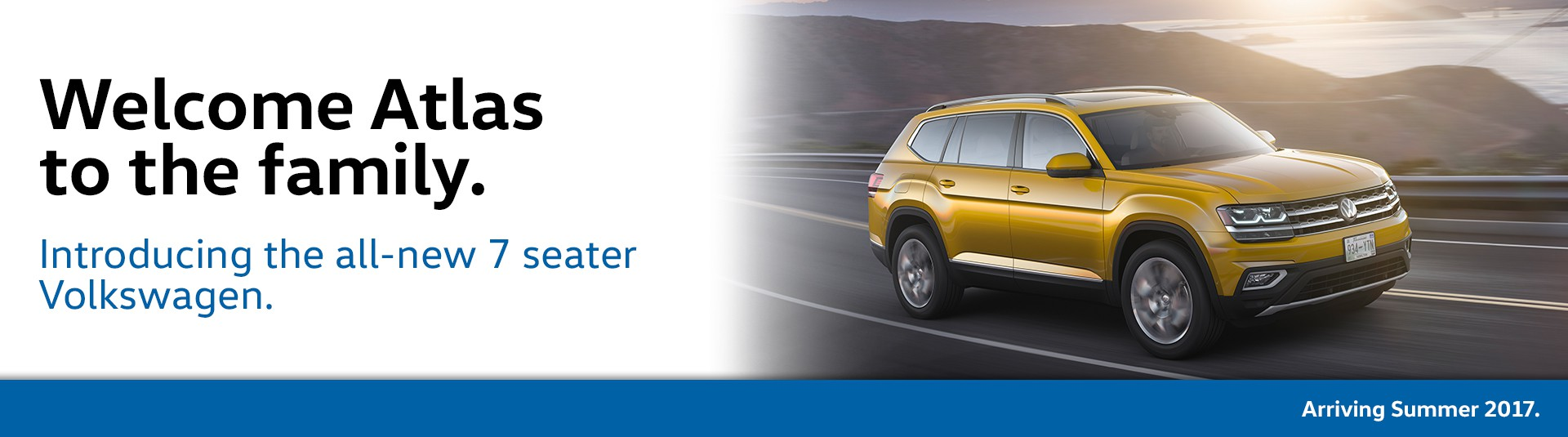 Introducing the all-new 7-seater Volkswagen Atlas!