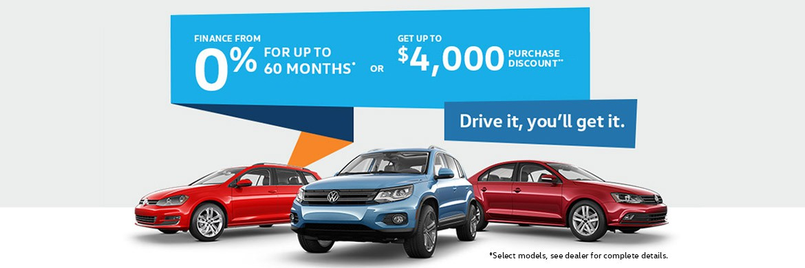 Finance From 0% for up to 60 months* or Get Up To 4000 purchase discount. Drive it, you'll get it. *select models, see dealer for complete details