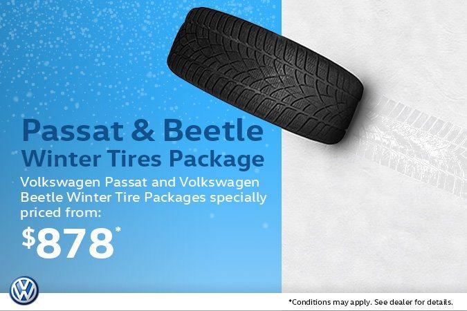 Volkswagen Passat and Beetle Winter Tire Packages