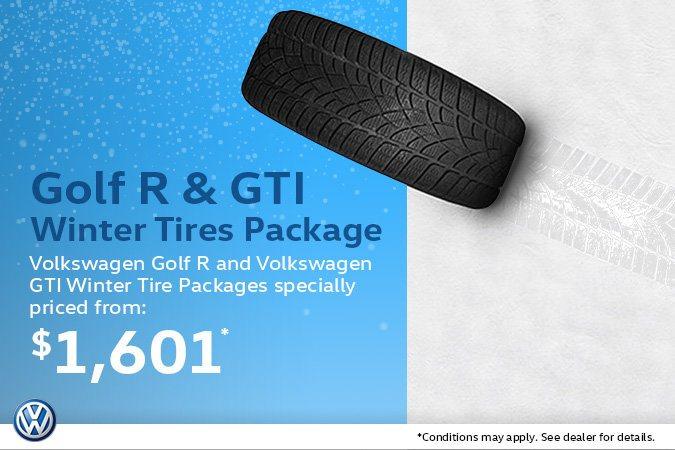 Volkswagen Golf R & GTI Winter Tire Packages