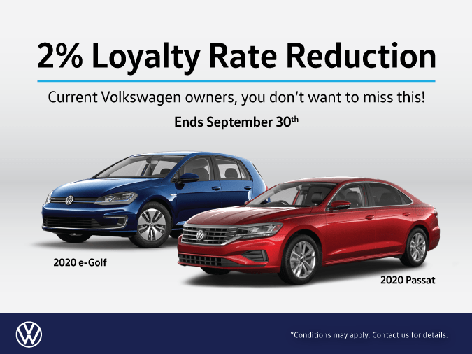 Loyalty Rate Break for VW owners only!!!