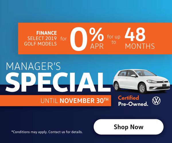 Manager's Specials - Humberview Volkswagen