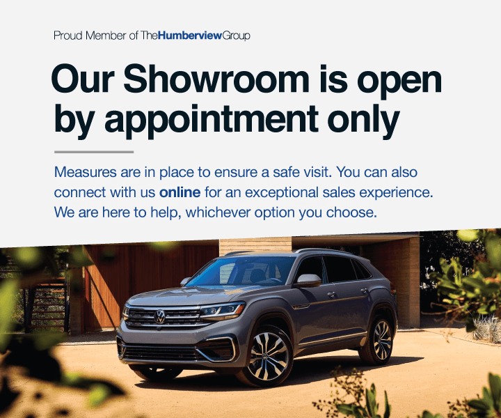 Showroom Open by Appointment Only - Humberview Volkswagen