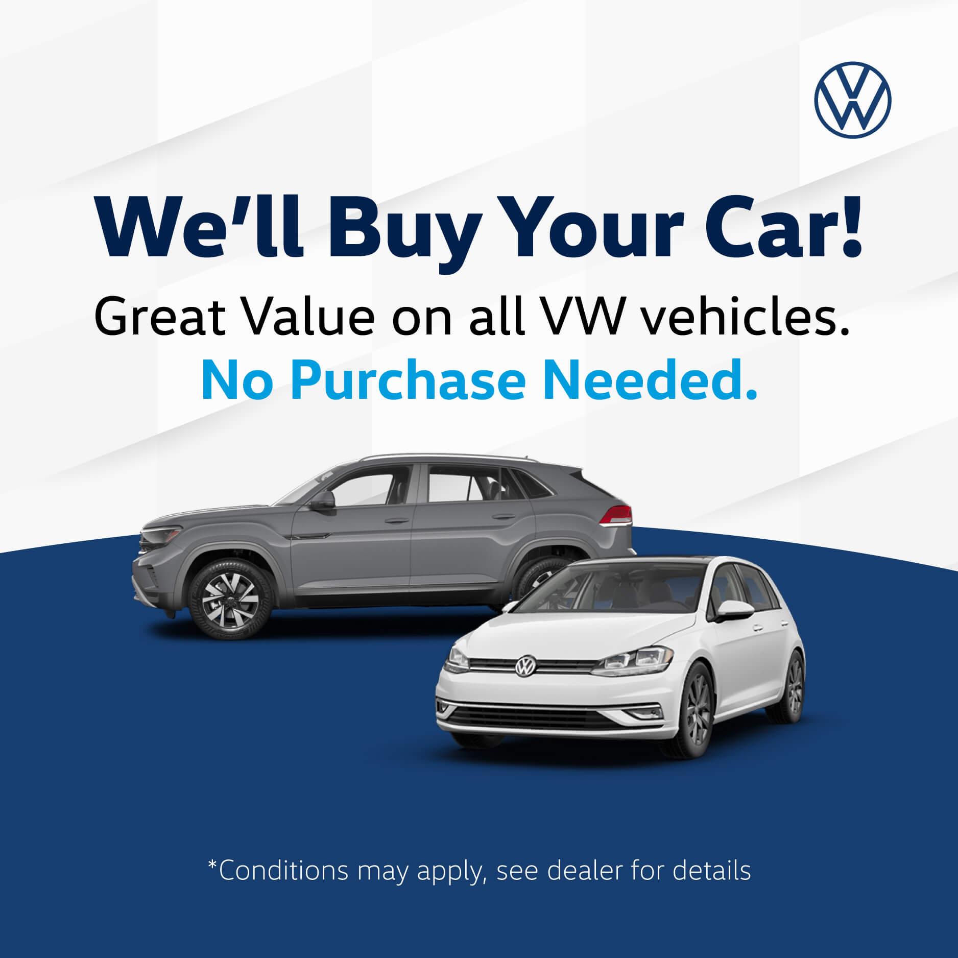 We'll Buy Your Car - Humberview Volkswagen